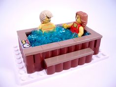 https://flic.kr/p/b5YzR6 | Winter Village: Log Cabin 7 | Tom and Sandy heat things up in the hot tub!