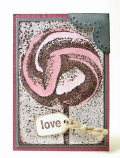 Artist Trading Card using @Darkroom Door Sweet Treats Vol 1 Rubber Stamps. ATC by Whimsical Stamper, Happy Emilia.