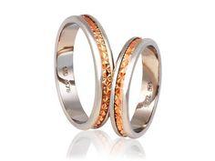 925 silver 9K Gold Wedding Band Rings Wedding band by KANTILAKI