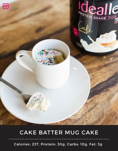 Mug cakes really are the cutest, right? And the fact that you can whip one of these babies up in minutes makes this a fun and easy afternoon treat.