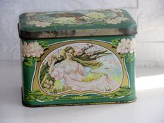 Old Tea Tin. $21.00, via Etsy.