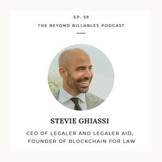 Stevie Ghiassi on Law Tech Innovation, Blockchain and the Future of the Industry Free Advice, Personal Branding, Blockchain, Innovation, Law, Tech, Social Media, Marketing, Future