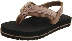 Reef Grom Stuyak Flip Flop (Toddler/Little Kid/Big Kid) Reef. $22.00. Manmade sole. Triple Density EVA footbed. Anatomical Arch support. Durable, High Density EVA Outsole. Synthetic and polyester. Fun and Playful Sandals by Reef. Suede Leather Strap