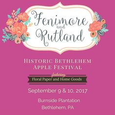 Happy Tuesday!  I can't believe we are in September already. The weather is getting cooler and it's almost sweater weather. Another sign of fall is the serious product prepping for all the fall shows!  This weekend you'll find me at the #Bethlehem Apple Festival from the #burnsideplantation. Stop by and say hello!  #fenimorerutland #lehighvalley #lehighvalleypa #allentownpa