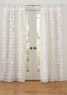 ruffled curtains... if I ever have a little girl.