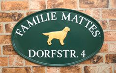 Oval house sign. Hand crafted in England and dispatched to Germany.  www.rockartisansigns.co.uk