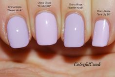 """Life in Color!: Comparison: China Glaze """"In a Lily Bit"""" vs China Glaze """"Sweet Hook"""""""
