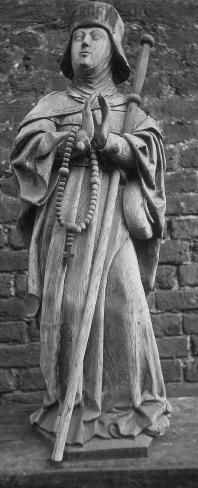Reineldis | Saint Reineldis as a pilgrim to the Holy Land, by the Master of Elsloo ...