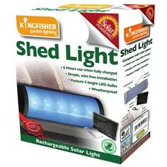 Lighten the dark with a solar powered shed light