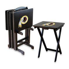 NFL® Washington Redskins TV Trays with Stand (Set of 4) - BedBathandBeyond.com