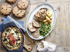 gehaktbrood met kaasvulling My Kitchen Rules, Go For It, Hummus, Tapas, Lunch, Chicken, Meat, Cooking, Ethnic Recipes