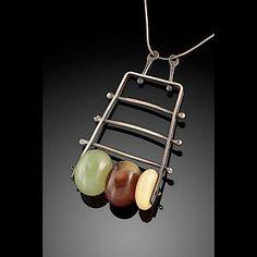 Vertical Climb Pendant: Erica Stankwytch Bailey: Silver & Stone Necklace | Artful Home