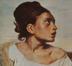 The Orphan Girl at the Cemetery - Delacroix Eugene 1823-1824