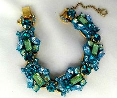 JULIANA D BRACELET AQUA, TURQUOISE & PERIDOT; I need this to wear as a necklace to my wedding reception (with a black dress)!