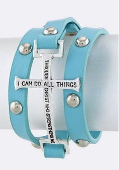 BACK IN STOCK!!!  Bracelet Bible Verse - Phil 4:13   I can do all things...