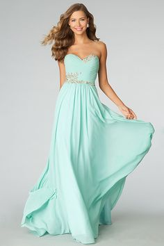 2014 Sweetheart Pleated Bodice A Line Full Length Dress Embellished With Beads And Rhinestone USD 126.99 LDP4Q5X4ZC - LovingDresses.com