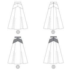 Gabriola skirt sewing pattern by Sewaholic Patterns
