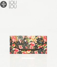 As Seen In Loulou Magazine, Floral Print Flapover Clutch