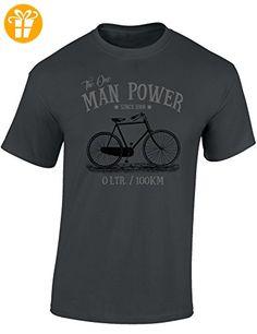 Baddery: The One Man Power - Fahrrad T-Shirt als Geschenk für alle Fahrradliebhaber - Geschenkidee (XL) - Shirts mit spruch (*Partner-Link)