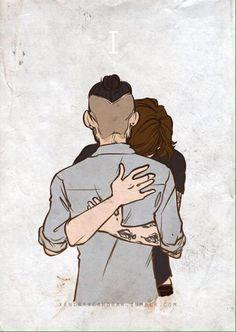 Harry hugging Zayn goodbye ❤️