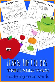 FREE Learn the Color names printable pack! Hurry!