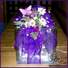 Lighted Glass Block with Spring Topper