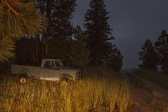 Off-roading at night in Golden, Colorado.