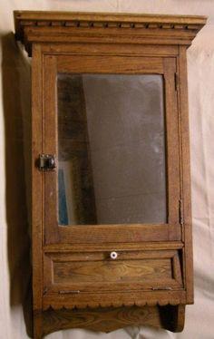 Vintage Medicine Cabinet | 114: ANTIQUE VICTORIAN MEDICINE CABINET