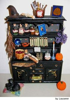 witches hutch idea (with potions on top)