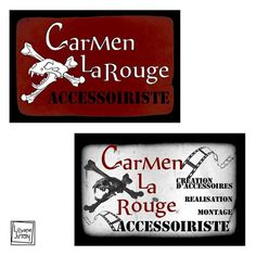 Carmen la Rouge Business Card - Client work - Nov 2015 - Various versions presenting her activity as a prop woman in the cinema industry