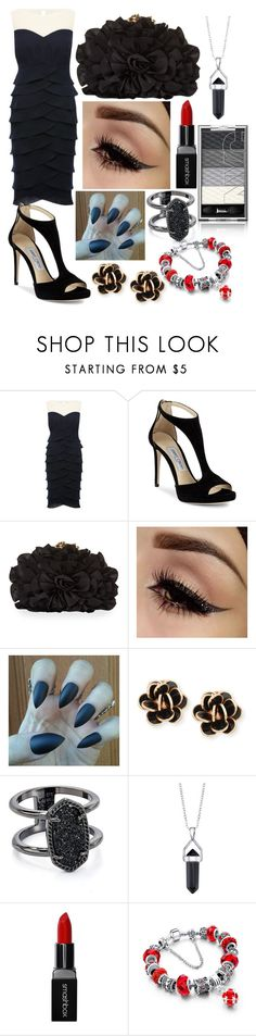 """Black beauty🖤"" by l-klaasen ❤ liked on Polyvore featuring M&Co, Jimmy Choo, Franchi, Chantecler, Kendra Scott, Bridge Jewelry and Smashbox"