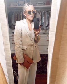 Damsel in Dior | Hermes Jige Elan 29 Clutch Dress Like A Parisian, Linen Blazer, Ready To Wear, Dior, Suit Jacket, Street Style, Stylish, How To Wear, Jackets