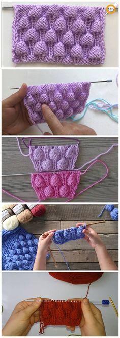 Raspberry knitting model making - How to make a raspberry model # knitting # knitting . Baby Knitting Patterns, Knitting Stitches, Stitch Patterns, Crochet Patterns, Crochet For Kids, Crochet Baby, Knit Crochet, Cat Pattern, Crochet Projects