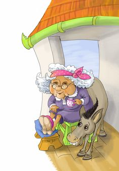 Funny Granny Stories For Kids, Digital Illustration, Princess Peach, Illustrations, Children, Funny, Fictional Characters, Art, Young Children