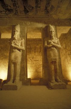 ✮ Interior of two statues at the Temple of Ramses II in Abu Simbel, Egypt  it is awesome