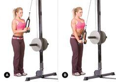 Exercícios para tríceps corda