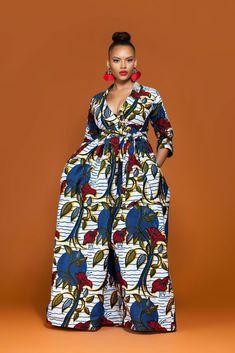 AFRICAN PRINT ZINNIA MAXI DRESS