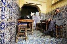 Coffee and tea in Medina of Fes, Morocco