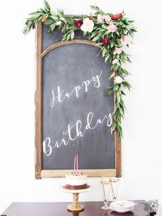 Birthday Paper Flora