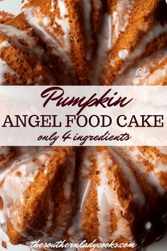 Pumpkin Angel Food Cake : The Southern Lady Cooks Pumpkin Angel Food Cake : The Southern Lady Cooks Fall Desserts, Delicious Desserts, Famous Desserts, Cake Mix Desserts, Ww Desserts, Healthier Desserts, Apple Desserts, Yummy Food, Pumpkin Recipes