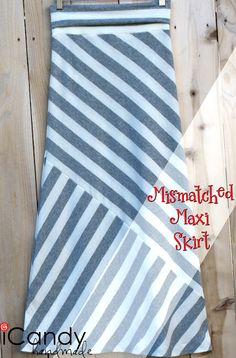 icandy handmade: (mini-tut and pattern) Mismatched Maxi Skirt, I was looking for this! Found it!