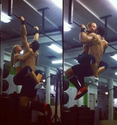 Sang and Silas working out