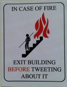 Some good fire safety advice...