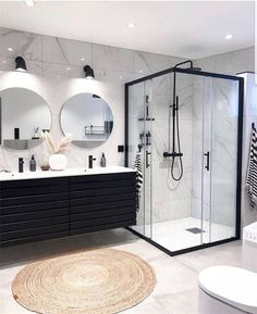 Home Sweet Home: These are the biggest home decor trends of .- Home Sweet Home: Dies sind die größten Wohnkultur-Trends des Jahres – … Home Sweet Home: These are the biggest home decor trends of – Bathroom furnishings – - Dream Home Design, Home Interior Design, Interior Modern, Interior Ideas, Mansion Interior, Design Interiors, Bathroom Design Luxury, Bathroom Inspiration, Bathroom Ideas
