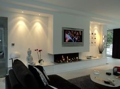 gashaard more gashaard met tv design openhaarden fireplace home ...