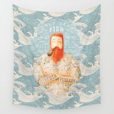 Sailor+Wall+Tapestry+by+Seaside+Spirit+-+$39.00