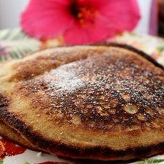 Moist & Fluffy Taro Poi Pancakes