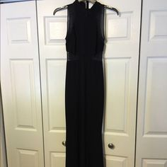 Black Evening Gown Beautiful with sheer see through waist cut outs Dresses
