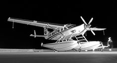 Beautiful black and white photography of the beautiful Cessna Caravan