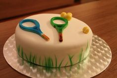 Tennis Cake Tennis Cake, Tennis Party, Fundraising Ideas, Cakes, Desserts, Pastries, Tailgate Desserts, Deserts, Cake Makers